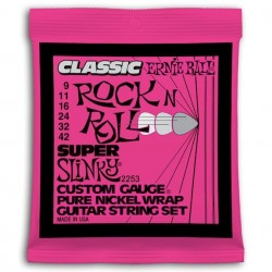 Ernie Ball 2253 Slinky Pure Nickel Super 9-42 Rock N' Roll