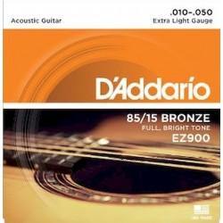 Juego Cuerdas Guitarra Acustica D'addario EZ-900 (010-050)