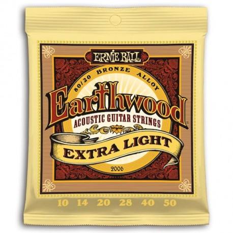 Ernie Ball Earthwood Bronce Extra Light 10-50