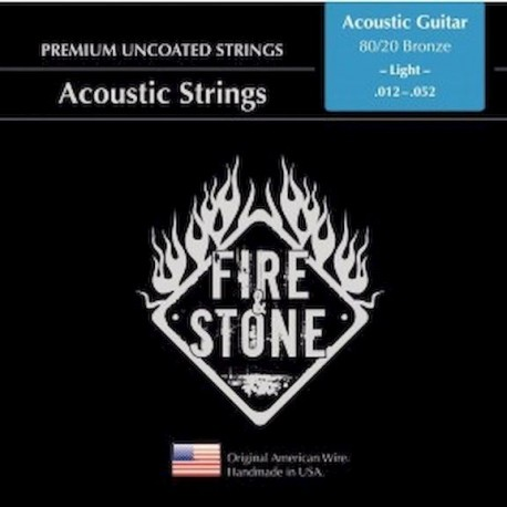 Fire&Stone Cuerdas Acustica Bronce Light 12-52