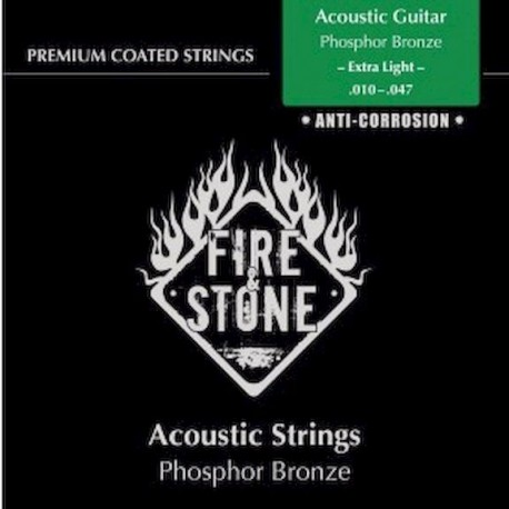 Fire&Stone Acústica Bronce Anti-corrosión Extra-Light 10-47