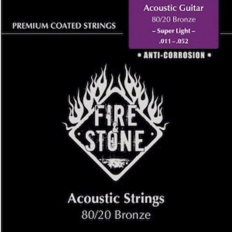 Fire&Stone Acústica Bronce Anti-corrosión Fósforo Super Light 11-52