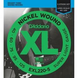D'Addario EXL220-5C (040-125)