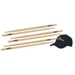 Zildjian Pack 3 pares Baqueta 5A + Gorra de Regalo