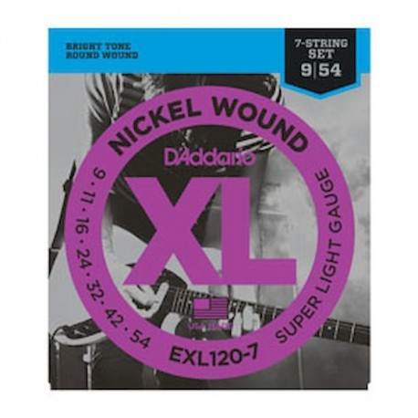 D´addario EXL 120-7 Super Light