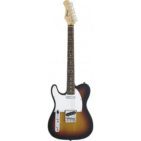 Stagg T320LH-SB Guitarra eléctrica para zurdos