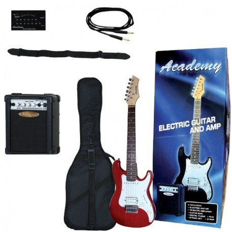 "Pack Guitarra Electrica Jr ""ACADEMY"" Rojo"
