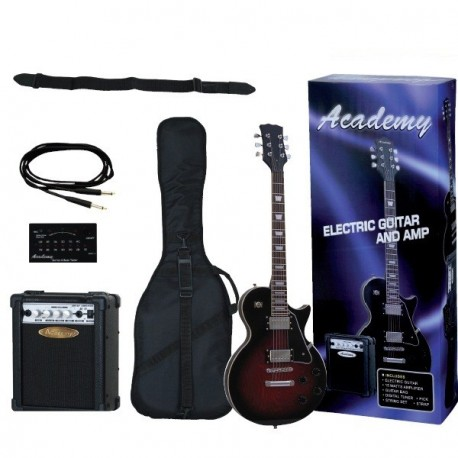 "Pack Guitarra Tipo Les Paul ""ACADEMY"" Negro"