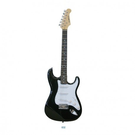 "Guitarra ""ACADEMY"" tipo Stratocaster 602 Negra"