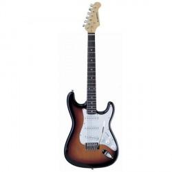 """Guitarra """"ACADEMY"""" tipo Stratocaster 602 Sombreada"""