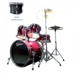"Premier Olympic Rock Lacado 22"" Negro"