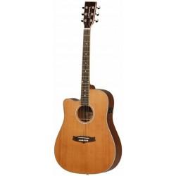 Tanglewood Guitarra Acústica TW28CSNCEZ Serie Evolution Electrificada Para Zurdo