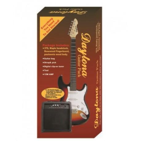 "Pack guitarra eléctrica tipo Stratocaster ""Daytona"""