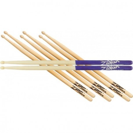 Zildjian 5A Value Pack 3 5A + 1 5A Purple Dip