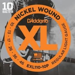 Pack 10 Cuerdas D´Addario EXL110-10P (10-46)