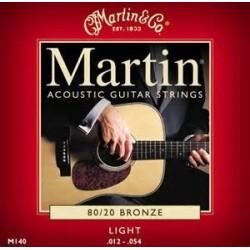 Martin M140 set 80/20 bronze acoustic string 012/054