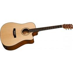 Bedell BDDCE18M Discovery Dreadnought Guitarra Electro-Acustica Con Funda