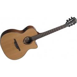 Lag Auditorium Cutaway Guitarra Clasica Electro-Acústica