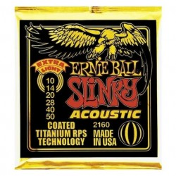 Ernie Ball 2160 Slinky Baño Titanio Extra Light 010-050