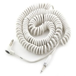 "Fender Koilkord 15"" Cable para Instrumento, blanco 4,5 m."