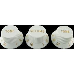 Botones Set Fender White estilo