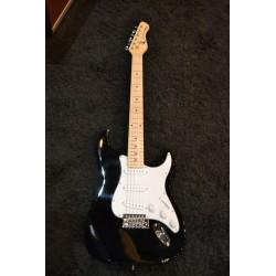 Blackhawk BHG1B Guitarra Diapasón Arce 3 Simples Negro