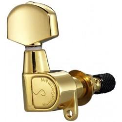Schaller M6 Locking Topmount 3+3 Negro 71502
