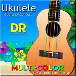 DR UMCSC Ukelele Multicolor Soprano/Concert
