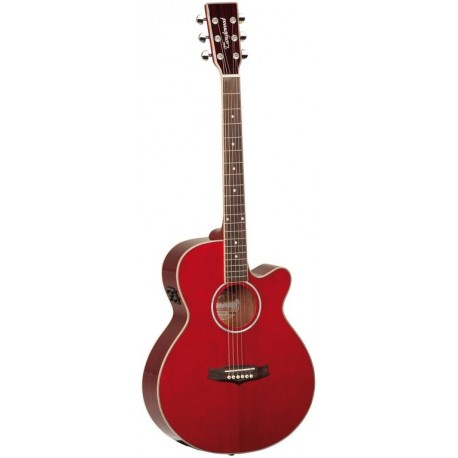 "Guitarra Acustica ""TANGLEWOOD"" TSFCER Roja"