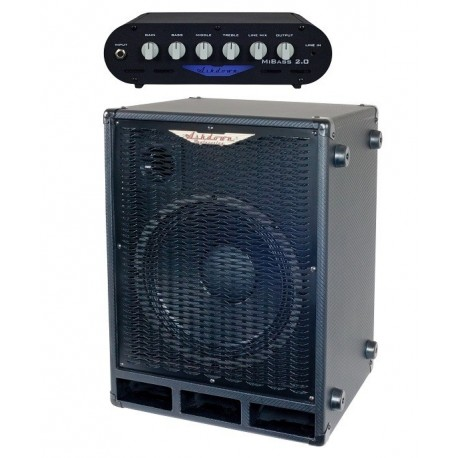 Ashdwon Amplificador Cabezal Mibass 2.0 + Pantalla Bajo Mi Bass