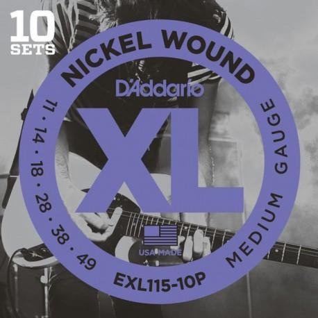 Pack 10 Cuerdas D´Addario EXL115-10P (11-49)