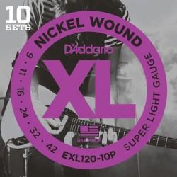 Pack 10 Cuerdas D´Addario EXL120-10P (09-42)