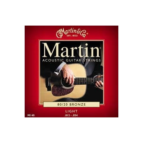 Martin M140 set 80/20 bronze acoustic string 012/054