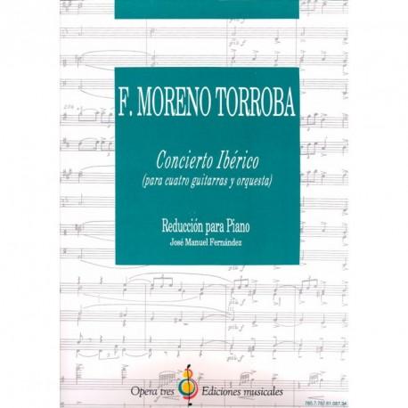 Concierto Iberico - Para Cuatro Guitarras Y Orquesta - Reduccion Para Piano -Jose Manuel Fdez.