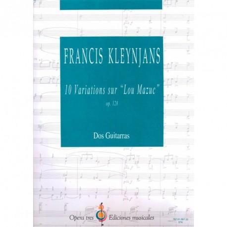 """10 Variations Sur """"Lou Mazuc"""" - OP.128 - Dos Guitarras"""