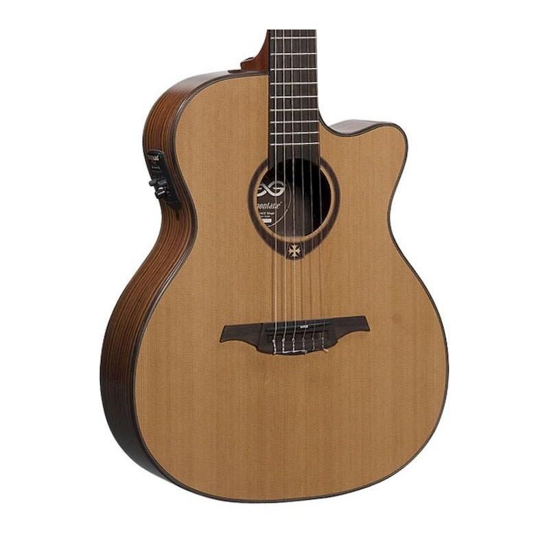 Guitarra clasica electro acustica lag auditorium cutaway for Guitarras la clasica