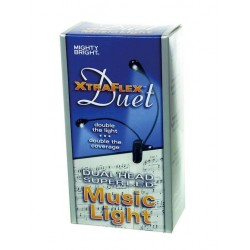 Mighty Bright Lampara Duet 2 Led Color Negro Un