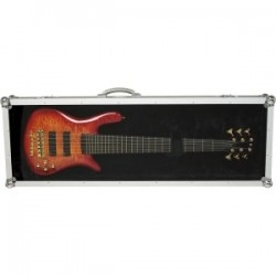 RockCase RC10905B Flight Case tapa transparente Bajo