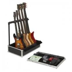 RockCase RC23140B Flight Case Pedales + Soporte 5 Guitarras Eléctricas/Bajos
