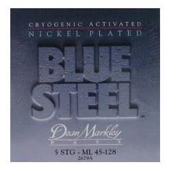 Dean Markley 2678A Bajo 5 cuerdas Blue Steel NPS 45-125 Jgo