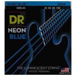 DR NBB45 Juego Bajo 4 cuerdas NEON Blue 45-105