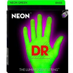 DR NGB545 Juego Bajo 5 cuerdas NEON Green 45-125