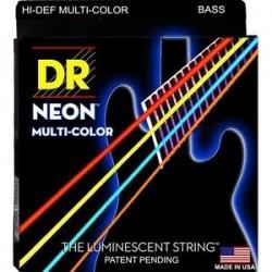 DR NMCB45 Juego Bajo 4 cuerdas NEON Multi-Color 45-105