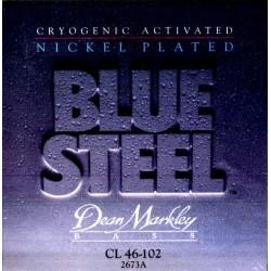 Dean Markley 2673A Bajo 4 cuerdas Blue Steel NPS 46-102 Jgo