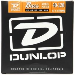 Dunlop DBN40120 Juego Bajo 5 cuerdas Nickel 40-120