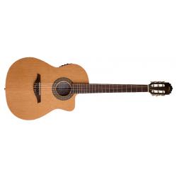 Guitarra clásica Cutaway Crossover Walnut