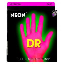 DR NPB45 Juego Bajo 4 cuerdas NEON Pink 45-105