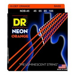 DR Bajo 4 cuerdas NEON Orange 45-105
