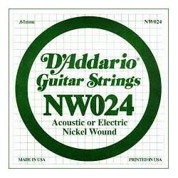 D'addario NW24 cuerda acust/elec