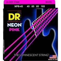 DR Bajo 4 cuerdas NEON Pink 45-105